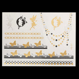 OnDecal Assorted Metallic Temporary Tattoos