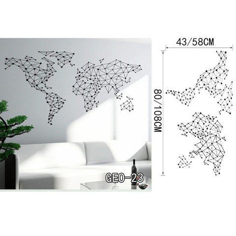 OnDecal Fine Geometric World Map