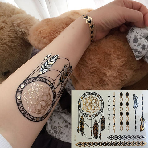 OnDecal Dreamcatcher Flowers Temporary Tattoo