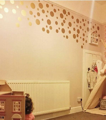 OnDecal Gold Polka Dot Wall Decals