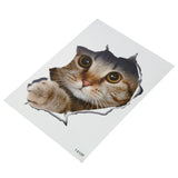 OnDecal Hole View Cat Dog 3D Wal Decal