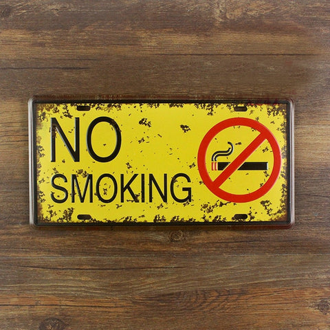 OnDecal No smoking Metal Sign