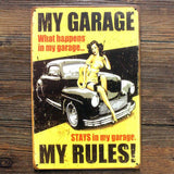OnDecal Vintage Style My Garage  Metal Signs