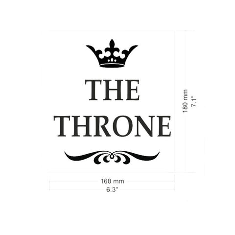 OnDecal The Throne Toilet Decal
