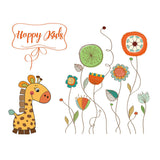 OnDecal Giraffe And Flowers