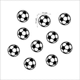 OnDecal 10 Pack Soccer Balls