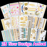 OnDecal Colourful Assorted Henna Temporary Tattoos