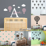 OnDecal Hot Air Balloon Vinyl Removable Wall Decals