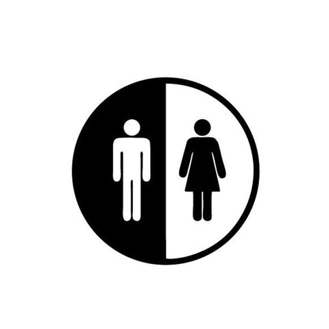 OnDecal Toilet Sign