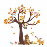OnDecal Unique Forest Animals Wall Decal