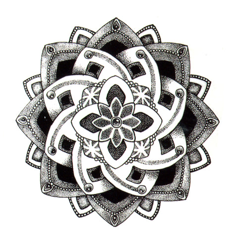 OnDecal Beautiful Henna Flower Temporary Tattoo