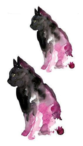 OnDecal Black Cat Temporary Tattoo
