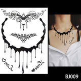 OnDecal Black Henna Jewel Lace Temporary Tattoo