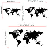 OnDecal World Map Atlas Wall Decal