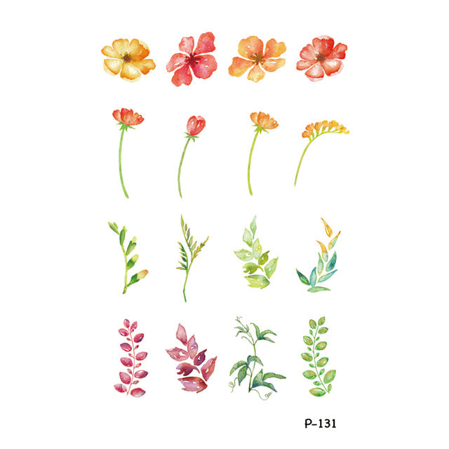 063678446 Flowers Temporary Tattoo – OnDecal