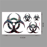 OnDecal Biohazard Symbol Tattoo