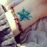 Watercolor Design Temporary Tattoos