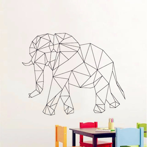 OnDecal Geometric Elephant Wall Decal