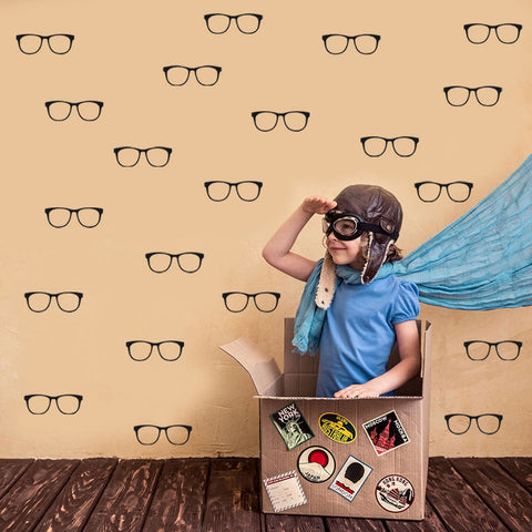OnDecal Glasses Shape Vinyl Wall Decals