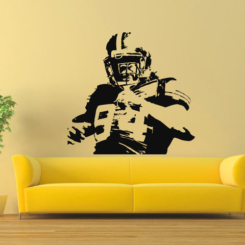 OnDecal AMERICAN FOOTBALL PLAYER VINYL WALL