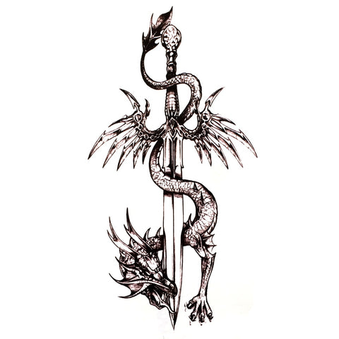 OnDecal Dragon Sword Temporary Tattoo