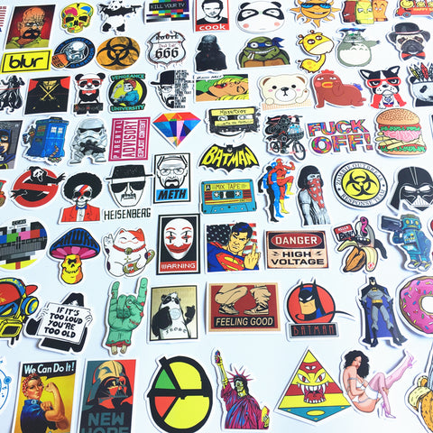 OnDecal 50pcs Random Mix Laptop Stickers