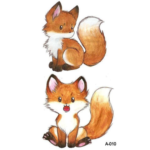 OnDecal Watercolor Fox Temporary Tattoo