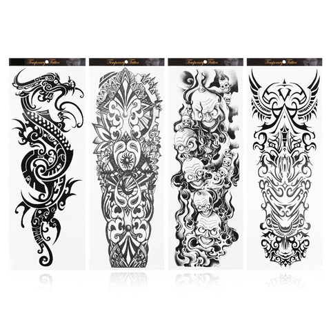 OnDecal 4 Sheets Temporary Arm Tattoos