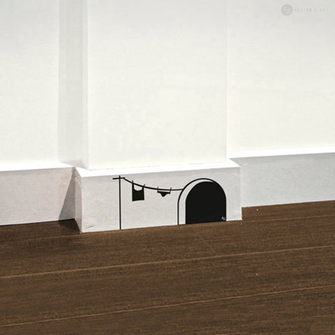 OnDecal Cute Cartoon Mouse Hole Home Wall Decal