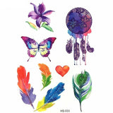 OnDecal Children Butterfly Insects Glitter Tattoos