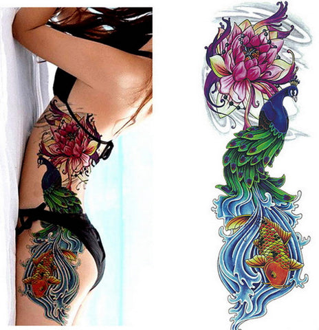 OnDecal Colorful Full Arm Temporary Tattoo