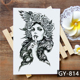 OnDecal Popular Designs Temporary Tattoos