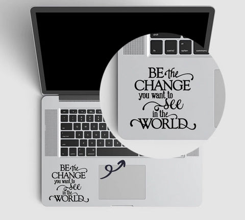 Gandhi Quote Laptop Decal