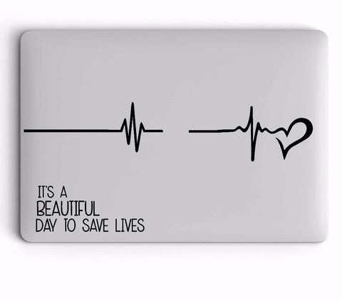OnDecal It's a beautiful day laptop decal