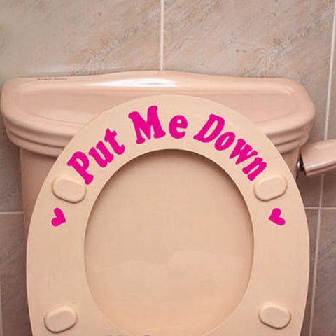 OnDecal Toilet Seat Reminder Decals