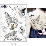 OnDecal Watercolor Drawing Temporary Tattoos