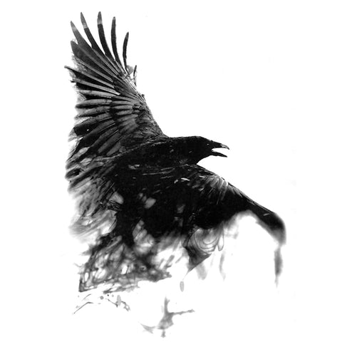 OnDecal Black Raven Temporary Tattoo