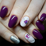 OnDecal Purple Flower Nail Decals