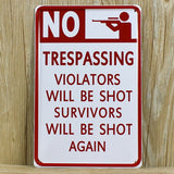 OnDecal Warning - No Trespassing Sign