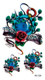 OnDecal Flower Designs Temporary Tattoo