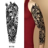 OnDecal Black Ink sleeve Temporary Tattoo