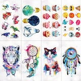 OnDecal Watercolor Cartoon Design Temporary Tattoos
