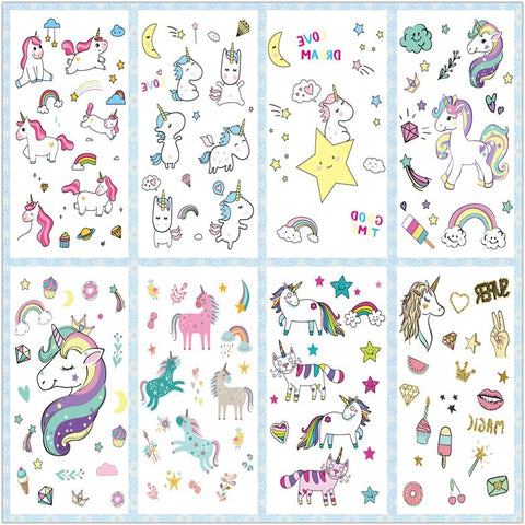 OnDecal Cute Unicorn Tattoos
