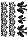 OnDecal Black Lace Temporary Flash Tattoos