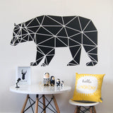 OnDecal Nordic Style Geometric Bear Wall Decal