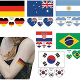 OnDecal Soccer Game Flags Temporary Tattoo