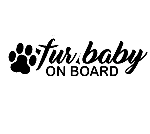 OnDecal Fur Baby On Board Car Decal