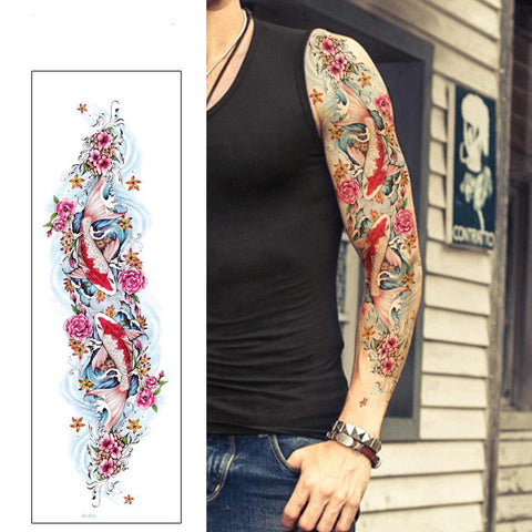 Swimming Cyprinoids Sleeve Tattoo