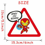 OnDecal Superheroes Baby On Board Car Decal