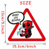 Superheroes Baby On Board Car Decal